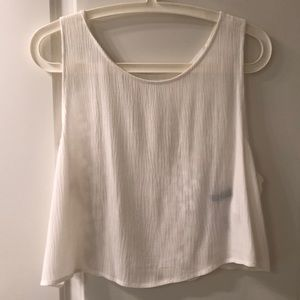 H&M cropped tank top with pattern back